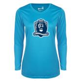 Ladies Syntrel Performance Light Blue Longsleeve Shirt-Monarchs Shield