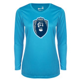 Ladies Syntrel Performance Light Blue Longsleeve Shirt-Lion Shield