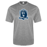 Performance Grey Heather Contender Tee-Monarchs Shield