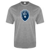 Performance Grey Heather Contender Tee-Lion Shield