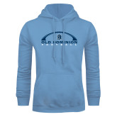 Light Blue Fleece Hoodie-Football Inside