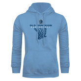 Light Blue Fleece Hoodie-Basketball Net