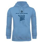 Light Blue Fleece Hoodie-Basketball Net