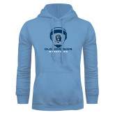 Light Blue Fleece Hoodie-Wrestling Helmet