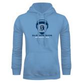 Light Blue Fleece Hoodie-Wrestling Helmet