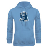 Light Blue Fleece Hoodie-Monarchs Shield
