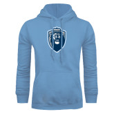 Light Blue Fleece Hoodie-Lion Shield