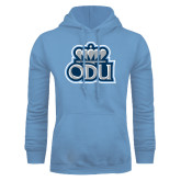 Light Blue Fleece Hoodie-ODU with Crown