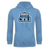 Light Blue Fleece Hoodie-ODU with Crown