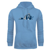 Light Blue Fleece Hoodie-Lion State