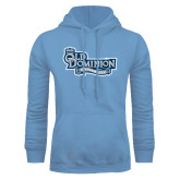 Light Blue Fleece Hoodie-Old Dominion University