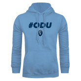 Light Blue Fleece Hoodie-ODU Hashtag