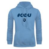 Light Blue Fleece Hoodie-ODU Hashtag