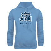 Light Blue Fleece Hoodie-Football