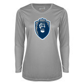 Ladies Syntrel Performance Platinum Longsleeve Shirt-Lion Shield