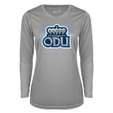 Ladies Syntrel Performance Platinum Longsleeve Shirt-ODU w Crown