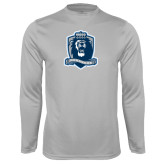 Performance Platinum Longsleeve Shirt-Monarchs Shield