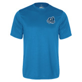 Performance Light Blue Tee-Primary Mark