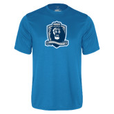 Performance Light Blue Tee-Monarchs Shield