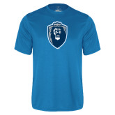 Performance Light Blue Tee-Lion Shield