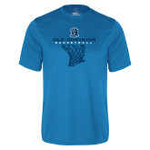 Performance Light Blue Tee-Basketball Net