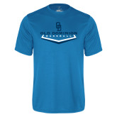 Performance Light Blue Tee-Baseball Plate