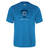 Performance Light Blue Tee-Wrestling Helmet