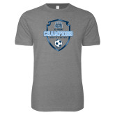 Next Level SoftStyle Heather Grey T Shirt-2017 Conference USA Mens Soccer