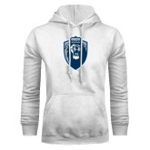 White Fleece Hoodie-Lion Shield