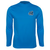 Performance Light Blue Longsleeve Shirt-Primary Mark