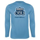 Performance Light Blue Longsleeve Shirt-Football