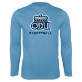 Performance Light Blue Longsleeve Shirt-Baseball