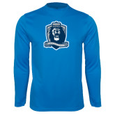 Performance Light Blue Longsleeve Shirt-Monarchs Shield