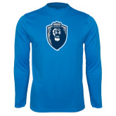 Syntrel Performance Light Blue Longsleeve Shirt-Lion Shield