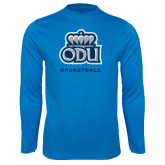 Performance Light Blue Longsleeve Shirt-Basketball