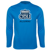 Performance Light Blue Longsleeve Shirt-Alumni