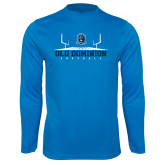 Performance Light Blue Longsleeve Shirt-Football Field
