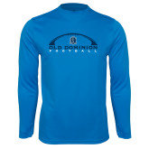 Performance Light Blue Longsleeve Shirt-Football Inside