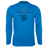 Performance Light Blue Longsleeve Shirt-Basketball Net