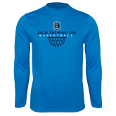 Syntrel Performance Light Blue Longsleeve Shirt-Basketball Net