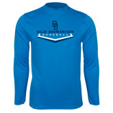 Performance Light Blue Longsleeve Shirt-Baseball Plate