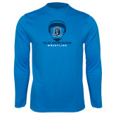 Performance Light Blue Longsleeve Shirt-Wrestling Helmet