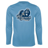Performance Light Blue Longsleeve Shirt-Primary Mark