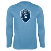 Performance Light Blue Longsleeve Shirt-Lion Shield