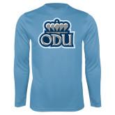 Performance Light Blue Longsleeve Shirt-ODU w Crown