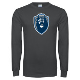 Charcoal Long Sleeve T Shirt-Lion Shield