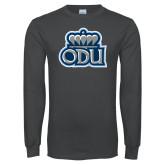 Charcoal Long Sleeve T Shirt-ODU w Crown