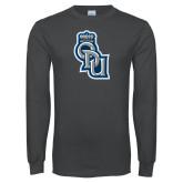 Charcoal Long Sleeve T Shirt-ODU Step