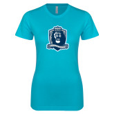 Next Level Ladies SoftStyle Junior Fitted Ice Blue Tee-Monarchs Shield