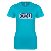 Next Level Ladies SoftStyle Junior Fitted Ice Blue Tee-ODU